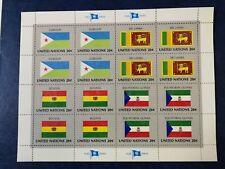 Hojitas banderas 1981.Nuevas MNH**. Valor facial 12.8 $