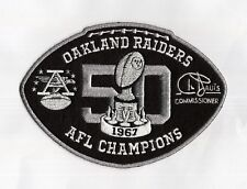 OAKLAND RAIDERS JERSEY PATCH '67 AFL CHAMPIONSHIP BLACK FOOTBALL 6.7X4.7 INCHES!