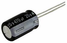 5 condensateurs chimique électrolytique 470µF 470uF 25V radial WH 105°C THT