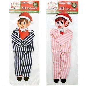 Elves Behavin' Badly Elf Striped Stripey Pyjamas New Naughty Accessory Pink Blue