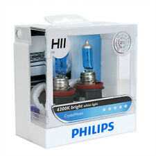 Philips H11 Crystal Vision 4300K White Halogen Bulb with Free T10 Parking Light