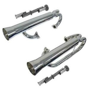 Empi 00-3709-0 Dual Racing Full Chrome Exhaust System w/Inserts VW 1200-1600cc
