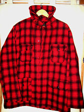 WOOLRICH MACKINAW BUFFALO PLAID HUNTING JACKET COAT-WINDTAB COLLAR-LINED-LN-46
