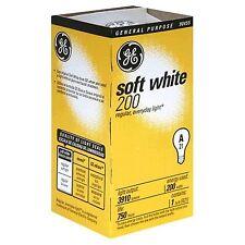 6- GE 200 Watt 11585-12 A21 200w Incandescent Soft White Light Bulbs