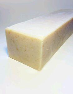 2 lb. Goat Milk Soap Loaf Oatmeal milk & Honey w/ SHEA
