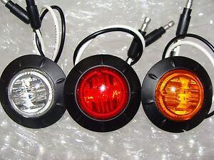 "1.25"" LED MARKER LIGHTS CLEARANCE TRUCK TRAILER LIFE TIME WARRANTY"