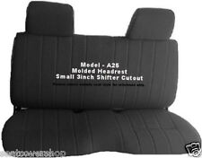 A25 Pickup Black Seat Covers Molded Headrest Small 3 inch Notched Cushion