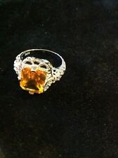 Silver filigree ring size 9 us R uk