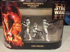 New 2005 Star Wars Commemorative Revenge of the Sith 3 Pack Clone Army Set 3 MIB