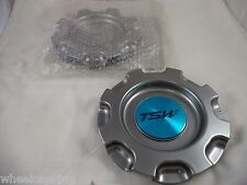 TSW Wheels Dark Gray Custom Wheel Center Caps #CT14301HB NEW! (SET OF 2)