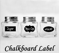 36pcs Removable Sticker Label  Chalkboard for Jars Pantry Canister Kitchen Chic