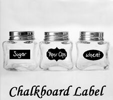 36pcs Chalkboard Removable Stickers Labels for Jars Pantry Canister Kitchen Memo