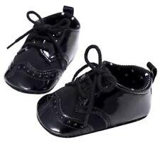 Newborn 0-6 M Baby 1st Shoes Boy Black Shiny Dress Crib Soft Sole  Pre Wallker