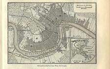 Carta geografica antica NEW ORLEANS pianta della città 1890 Old antique map