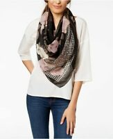 INC International Concepts houndstooth floral women's square scarf - BLACK
