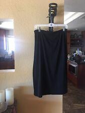 Willi Smith Skirt XL Black Stretch Pencil