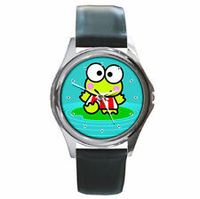 sanrio keroppi in the pond leather watch cute frog