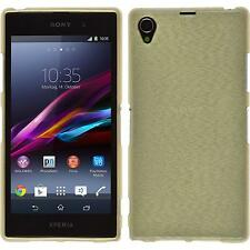 Coque en Silicone Sony Xperia Z1 - brushed or + films de protection
