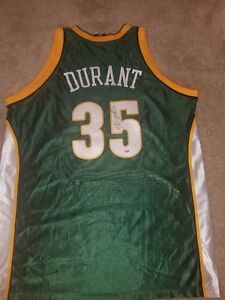 Kevin Durant signed Seattle supersonics Jersey 4 2 curry ticket Warriors Final