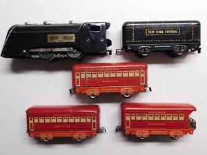 O Scale MARX Vintage Commodore Vanderbilt Steam Locomotive & (3) Passenger Cars