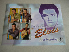 """SIERRA LEONE   50th ANNIVERSARY OF ELVIS FIRST RECORDING """"THAT'S ALL RIGHT""""   SH"""