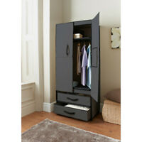 Spaceways Deluxe Double Canvas Wardrobe With 2 Drawers Extra Space In The House