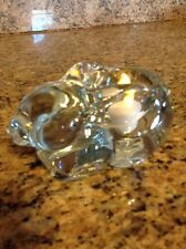 Lead Crystal Bunny Rabbit Tealight Holder& Safe Led Candle
