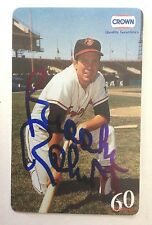 Baltimore Orioles Brooks Robinson Autograph Crown Phone Card Auto