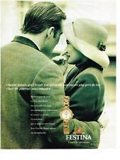 PUBLICITE ADVERTISING  1994   FESTINA montre femme