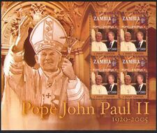 Zambia 2005 Pope John Paul II/People/Religion/President Carter 4v m/s (n35010)
