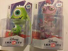 2x Disney Infinity 1.0 Monsters University Figure Mike Randy WII XBOX ps3 NUOVO CON SCATOLA