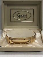 "Vintage Speidel USA Gold Tone Cuff ID Bracelet Blank Engrave *Option to ENGRAVE"""
