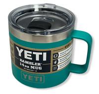 Yeti Rambler 14oz Mug with Magslider Lid *AQUIFER BLUE* NEW