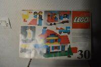 RARE ANCIENNE BOITE LEGO 30 COFFRET MAISON ET VEHICULES VINTAGE 1976
