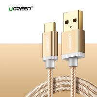 Cable USB 2.0 a USB-C carga rapida reforzado UGREEN 2.4A dorado 1M 2M