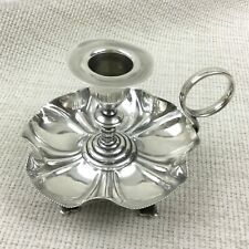 Antique Candlestick Chamber Candle Holder Edwardian Silver Plated Small Dainty
