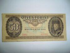 BANCONOTA 50 FORINT UNGHERIA 1986 SPL