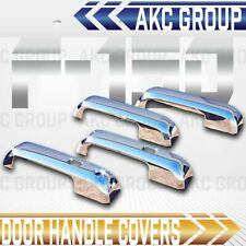 Cobra Tek For 2015-2016 Ford F150 Smart Key Chrome Door Handle Trim Cover Caps