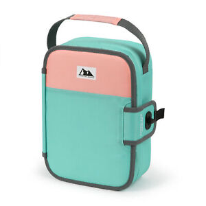 Arctic Zone Zipperless Lunch Teal and Blush Blush and Teal NEW FS!