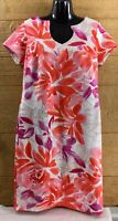 Shelby & Palmer Womens Dress 12 Pink White Pencil Straight Knee Length Stretchy