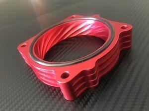 (X707-BR) RED Throttle Body Spacer for 2005 - 2008 Dodge MAGNUM 5.7l 6.1l v8