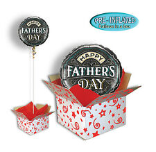 """Fathers Day 18"""" Foil Balloon in a Box Chalkboard Gift Boxed."""