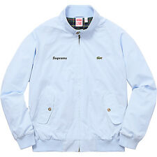 Supreme LACOSTE Harrington Jacket Light Blue Size Small DS NEW