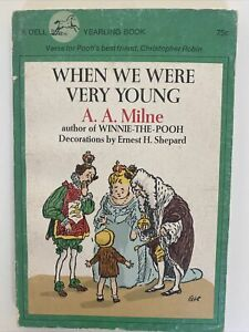 When We Were Very Young by A. A. Milne 1974, Paperback, Illustrated
