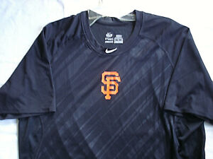 MENS RARE NIKE PRO BLACK 2XL S.F. GIANTS BASEBALL DRI-FIT JERSEY SHIRT-LNWOT