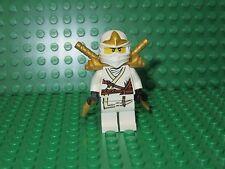 LEGO Ninjago Zane ZX Minifigure White Gold Helmet armor swords 30086