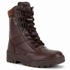 Brown ArmyFull Leather Military Combat Patrol Boots Tactical Security Cadet