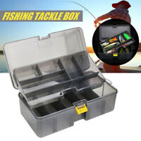 Accessories Organizer Bait Storage Case Double Layer Fishing Tackle Box