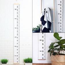 Ace Wooden Kids Growth Height Chart Ruler Child Room Decor Wall Hanging Measure