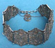 Biedermeier Damen Schmuck Filigran-Silber-Armband Sicherheitsverschluss ~1860